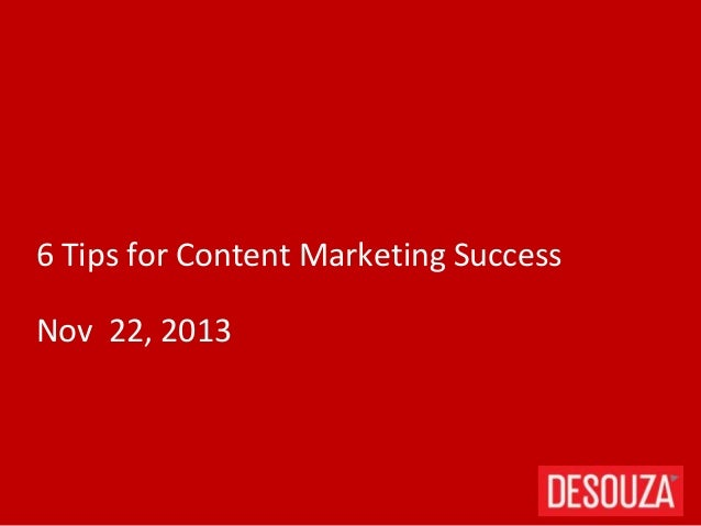 6 tips for content marketing
