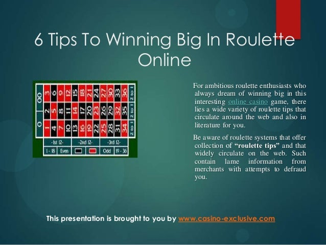 winning tips for roulette