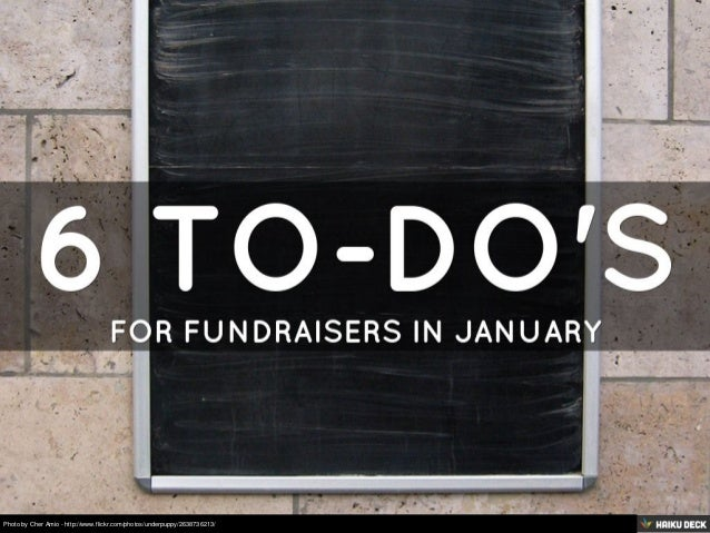 6 To-Do's for Fundraisers in January