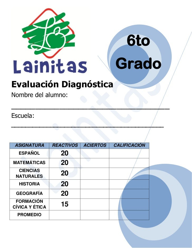 6to grado diagnóstico