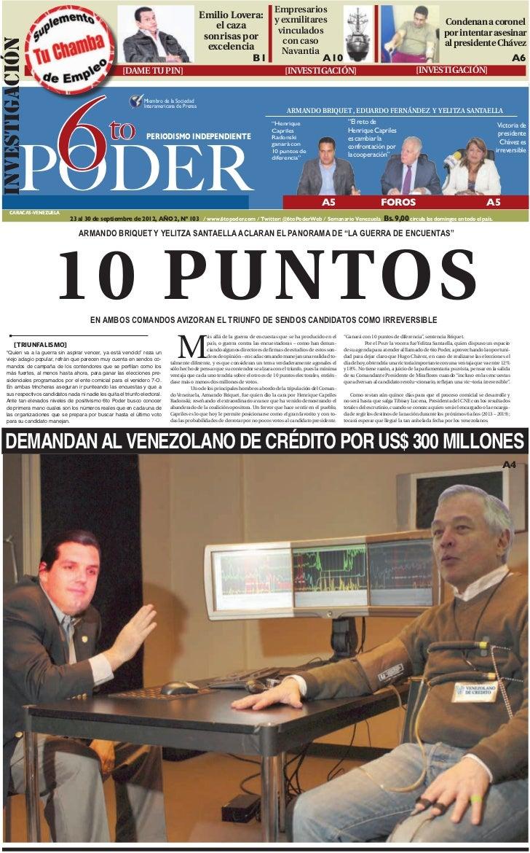 Semanario 6to Poder Edición Domingo 23 de Septiembre 2012