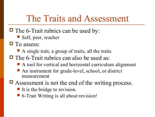 essay writing six traits