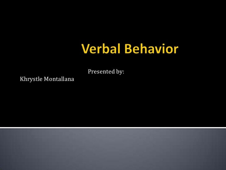 Verbal Behavior Presentation with Questions
