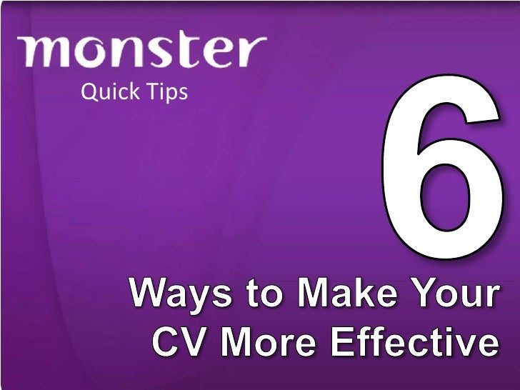 6 Ways to Make Your CV More Effective