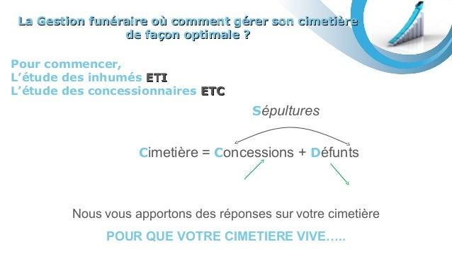 Pour commencer, L'étude des inhumés ETIETI L'étude des concessionnaires ETCETC Nous vous apportons des réponses sur votre ...