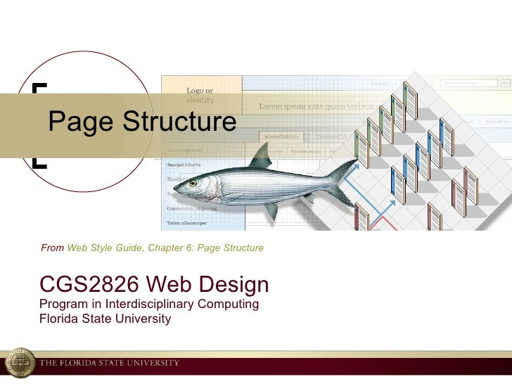 Page Structure CGS2826 Web Design Program in Interdisciplinary Computing Florida State University From  Web Style Guide, C...