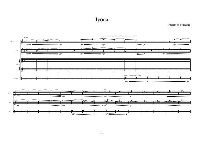 & & & & ÷ c c c c c Bass Clarinet Cello Tam Tam Harp ~~~~~~~~~~~~~~~~~~~~~~~~~~~~~~~~~~~~~~~~q»§º ponticello Ø Ø w w ∑ ∑ ∑...