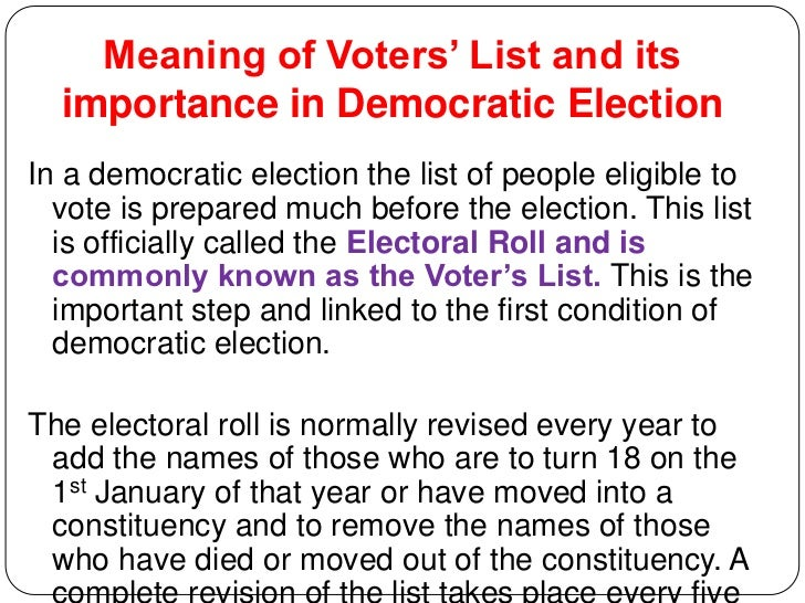 What is the importance of voting?
