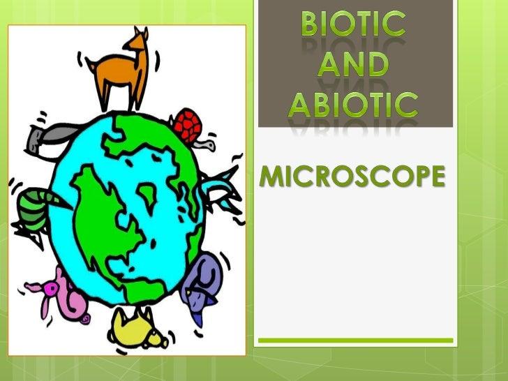 7-1. biotic & abiotic