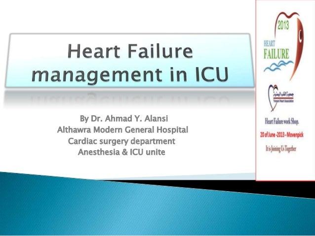 Heart Failure management in ICU