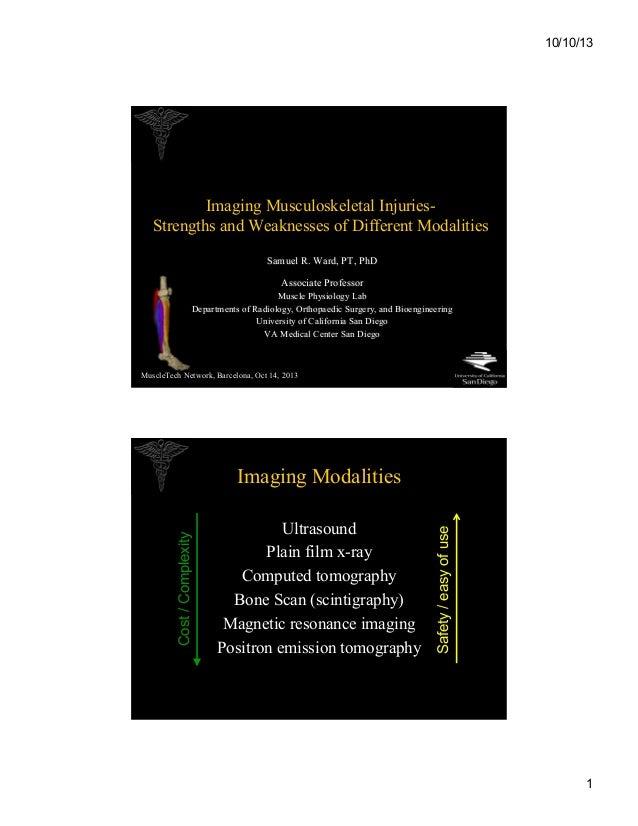 Samuel R. Ward. Associate Professor in the Departments of Radiology, Orthopaedic Surgery and Bioengineering at the University of California, San Diego.