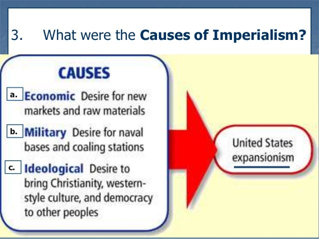 imperialism causes Along with colonialism and nationalism, imperialism was one of the main ideologies leading to world war i by the eve of world war ii.
