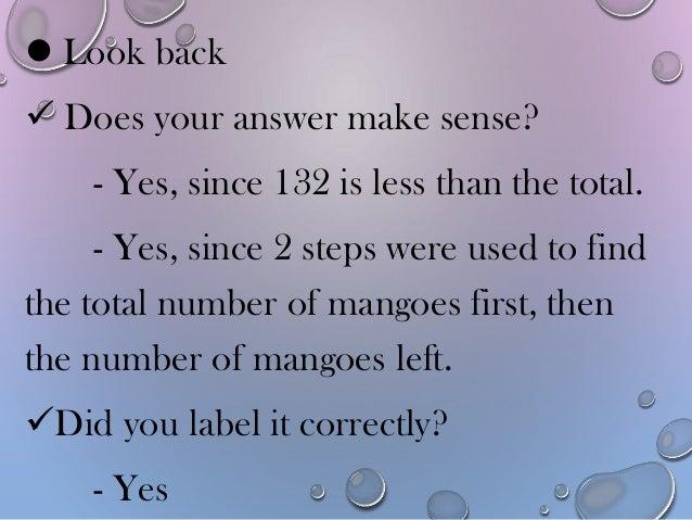 Number problem solving