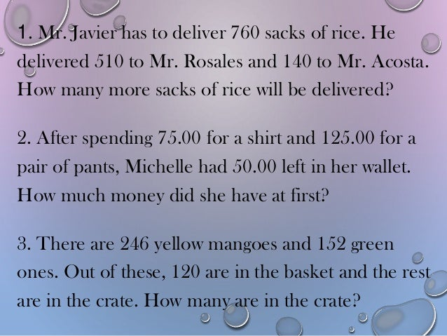 solving word problem involving addition in Mastering the art of solving math word problems takes practice  at some point,  your child will intuitively know that adding those two numbers.