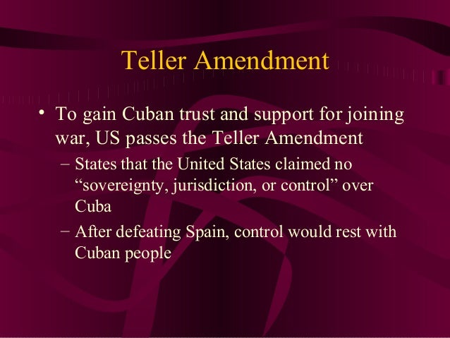 What is the definition of the Teller Amendment?
