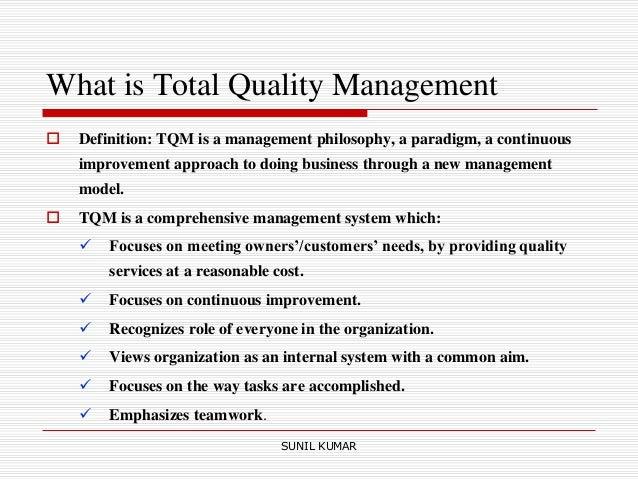 Dissertation management quality total