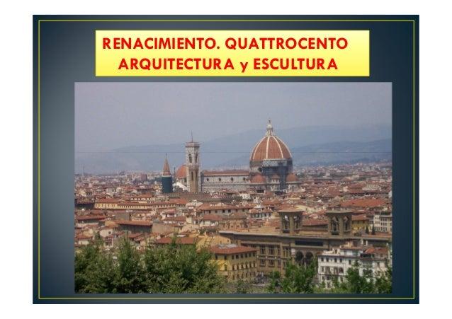 7 1 arquitectura y escultura del quattrocento for Arquitectura quattrocento y cinquecento