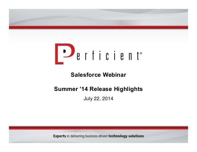 Salesforce Summer '14 Release Highlights