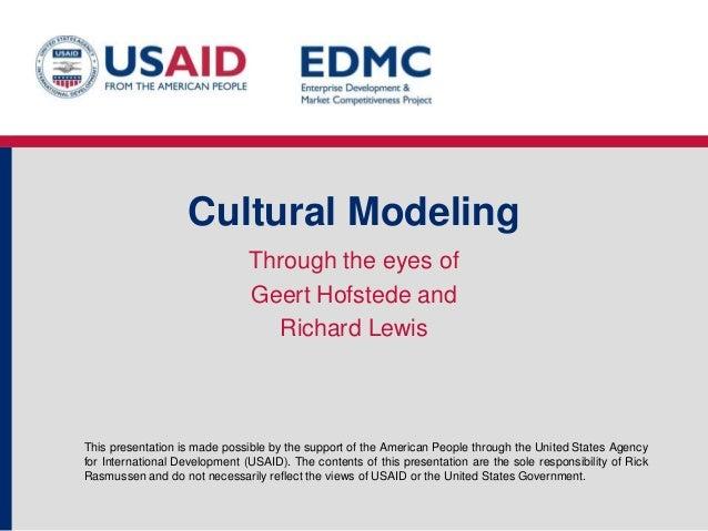 7.2 cultural modeling