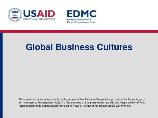 7.3 global business cultures