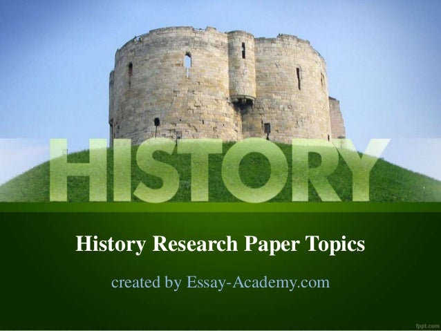 Topics for a U.S. History Research paper?