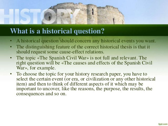 History research paper question?