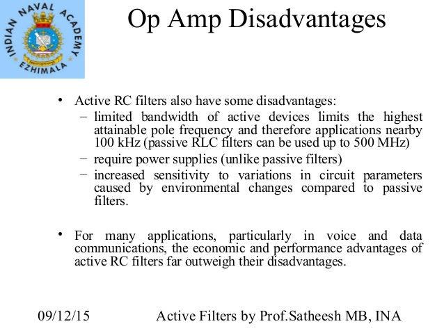 advantages and disadvantages of passive filters pdf