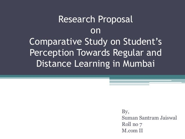 distance education research proposal