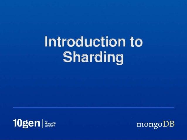 Webinar: Sharding