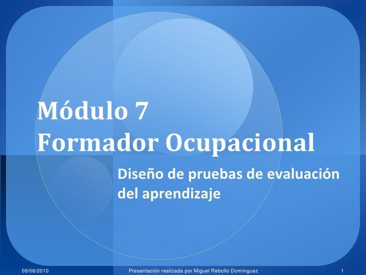 7.1 diseño de la evaluación
