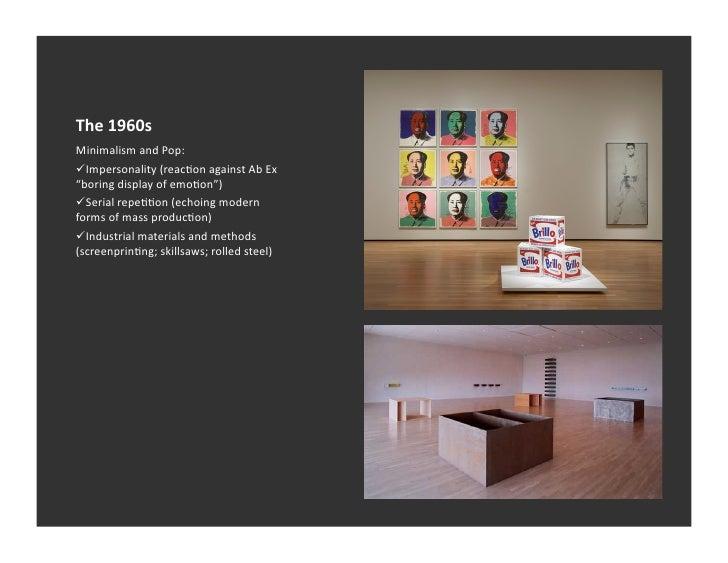 Post minimalism 1 for Minimalist art 1960