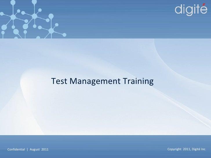 Test Management Training