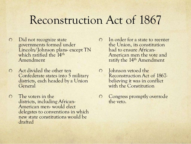 effects of radical reconstruction And postbellum eras was reconstruction too radical or too conservative when did it start and end and how and why did it fail.