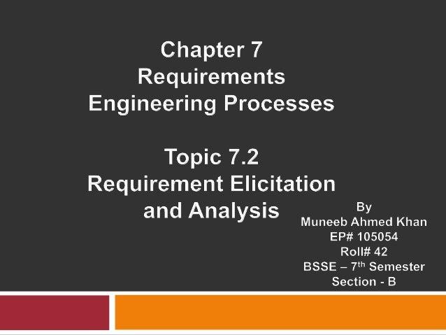 Requirement Elicitation 7.2