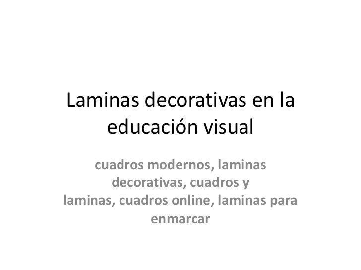 Laminas decorativas