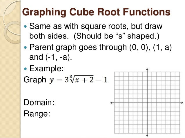 Square Root Function Examples 7.5 graphing square ro...