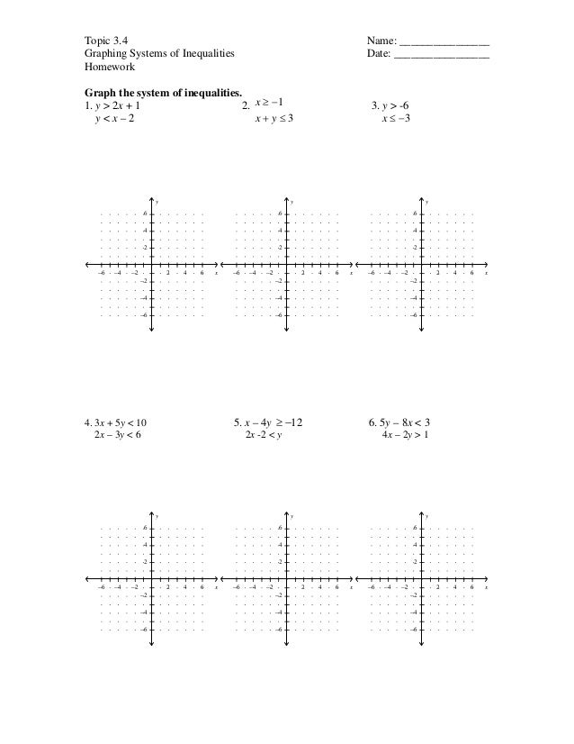 Topic 3.4 Name: ________________Graphing Systems of Inequalities Date: _________________HomeworkGraph the system of inequa...