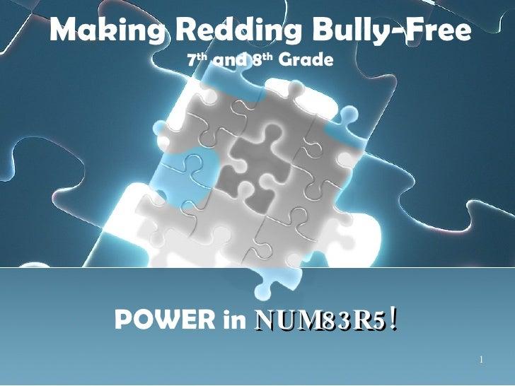 7th & 8th grade Bully Presentation
