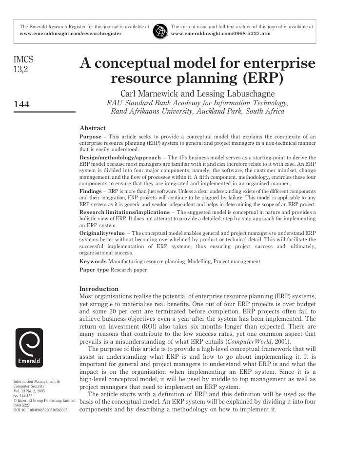 7. A Conceptual Model For Erp