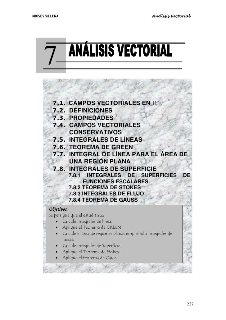 7 análisis vectorial