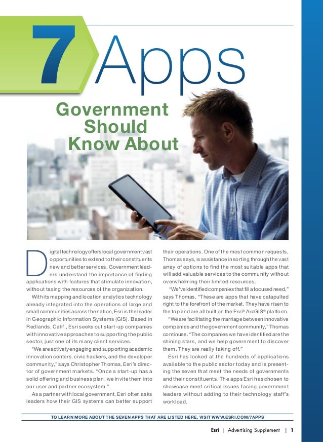 7 Apps Government Should Know About