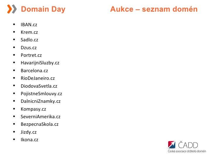 <ul><li>IBAN.cz </li></ul><ul><li>Krem.cz </li></ul><ul><li>Sadlo.cz </li></ul><ul><li>Dzus.cz </li></ul><ul><li>Portret.c...