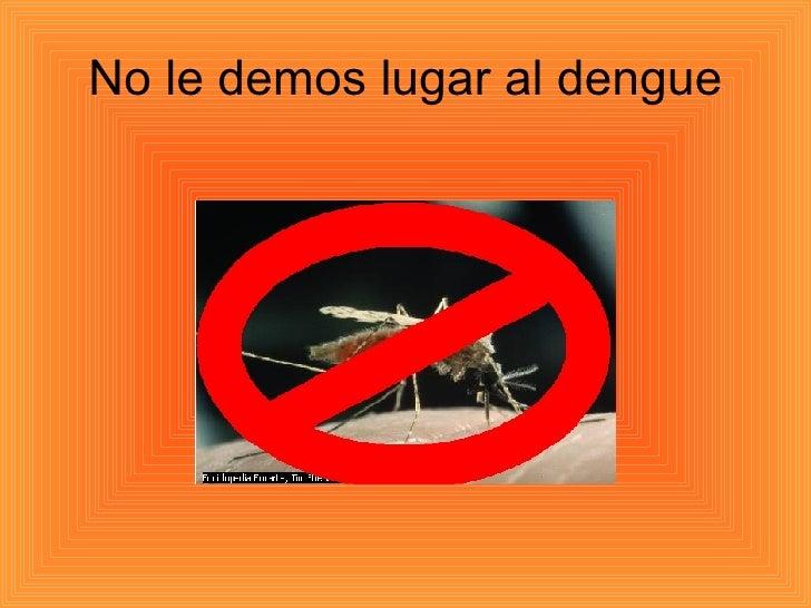 No le demos lugar al dengue