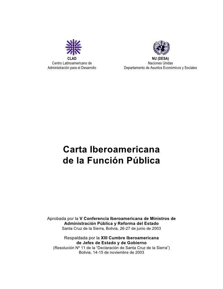 7. carta iberoamericana de la función pública