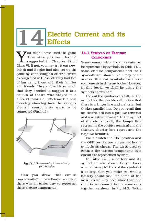 14                     Electric Current and its                       EffectsY       ou might have tried the game         ...