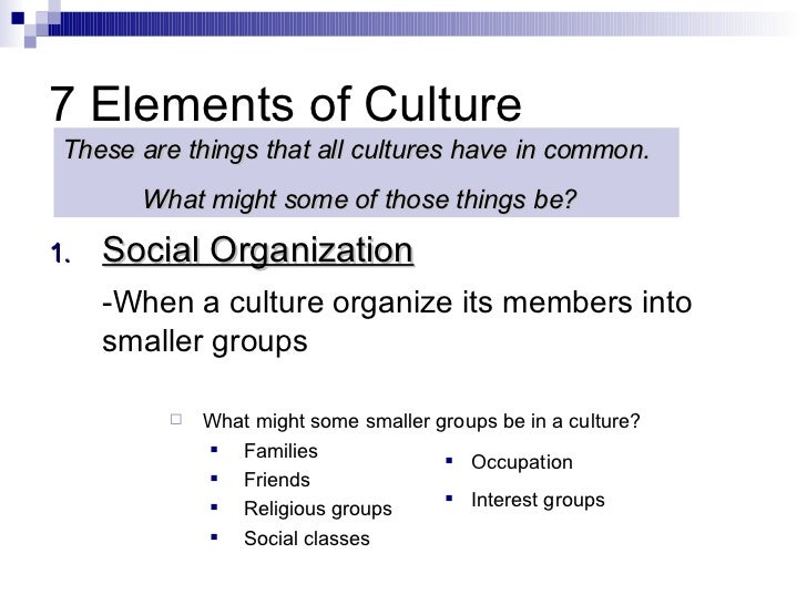 aspects of organizational culture essay