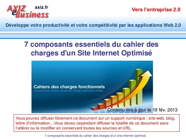 Vers l'entreprise 2.0Développe votre productivité et votre compétitivité par les applications Web 2.0        7 composants ...