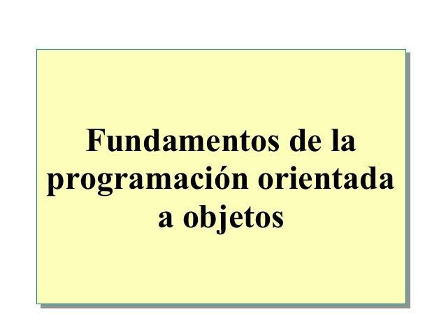 Fundamentos de la programación orientada a objetos
