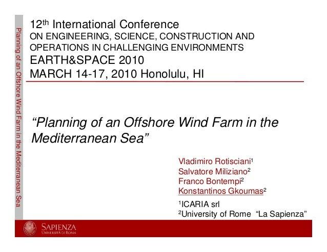7 - Planning of an Offshore Wind Farm in the  Mediterranean Sea - Gkoumas