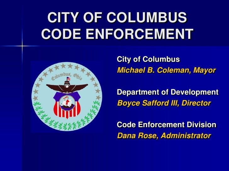 7 City of Columbus Code Enforcement